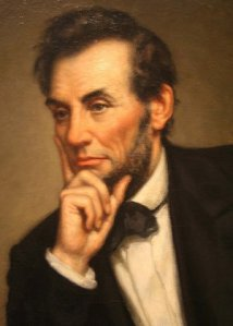 """Lets have faith that right makes might; and in that faith let us, to the end, dare to do our duty as we understand it.""  ~ Abraham Lincoln (public domain image)"