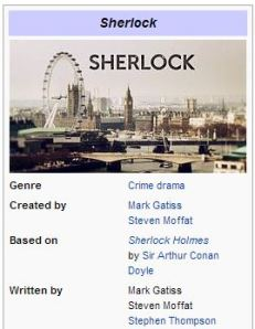 Wikipedia snip-it of Sherlock