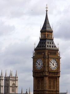 Public clocks to keep us on track.  (photo credit: Big Ben from Wikimedia Commons)