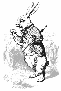 public domain image of The White Rabbit