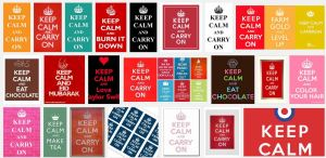 Google search of keep calm and...