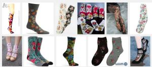 I Googled 'flowered socks'